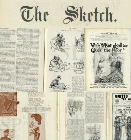 1893 The SKETCH Magazine PANAMA SCANDAL Keir HArdie MUSIC HALL OXFORD (30)